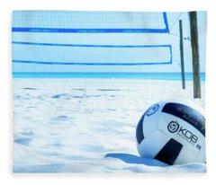 Volleyball On The Beach Fleece Blanket