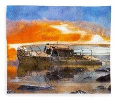 Beached Wreck Fleece Blanket