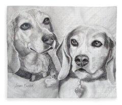 Beagle Boys Fleece Blanket