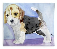 Beagle Pup Fleece Blanket