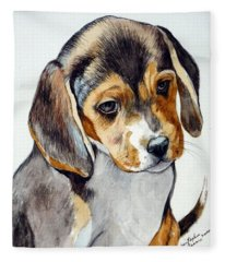 Beagle Puppy Fleece Blanket