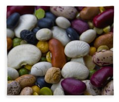 Beans Of Many Colors Fleece Blanket