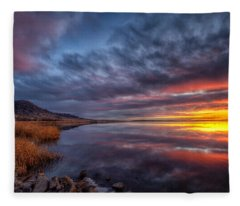Bear Butte Lake Sunrise Fleece Blanket