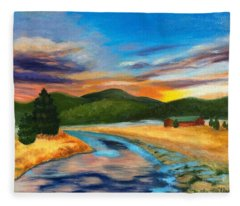 Bear Creek Colorado Fleece Blanket