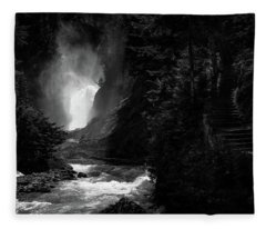 Bear Creek Falls In Spring Fleece Blanket