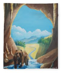Bear Going Home Fleece Blanket