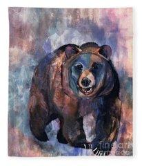 Bear In Color Fleece Blanket