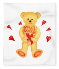 Bear In Love Fleece Blanket