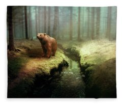 Bear Mountain Fantasy Fleece Blanket