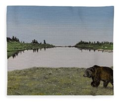 Bear Reflecting Fleece Blanket