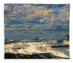 Bear Tooth Mountain Range Fleece Blanket