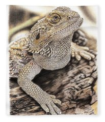 Bearded Dragon Fleece Blanket