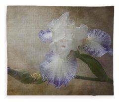 Bearded Iris 'gnuz Spread' Fleece Blanket