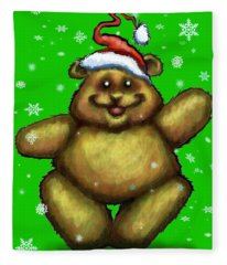 Bearry Christmas Fleece Blanket