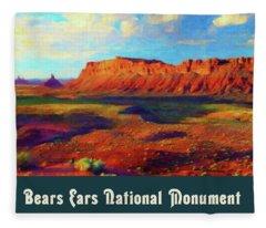 Bears Ears National Monument Fleece Blanket