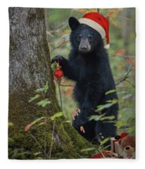 Beary Christmas Card Fleece Blanket