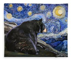 Beary Starry Nights Fleece Blanket