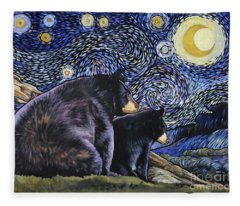 Beary Starry Nights Too Fleece Blanket