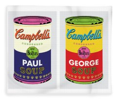 Beatle Soup Cans Fleece Blanket