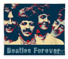 Beatles Forever Fleece Blanket