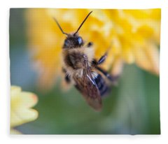 Beautiful Bee Fleece Blanket