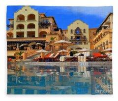 Beautiful Cabo Resort Fleece Blanket
