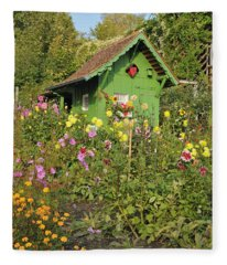 Beautiful Colorful Flower Garden Fleece Blanket