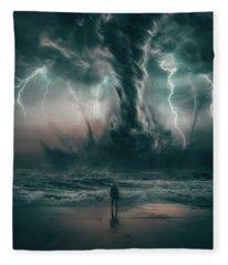 Beautiful Destruction Fleece Blanket