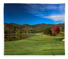 Colorful Golf Fleece Blanket