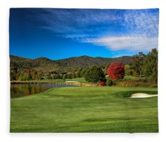 Colorful Golf Fleece Blanket