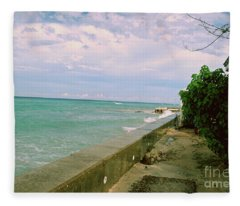 Beautiful Grand Turk Coastline Fleece Blanket