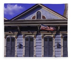 Beautiful House French Quarter Fleece Blanket