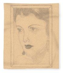 Beautiful Lady Face Fleece Blanket