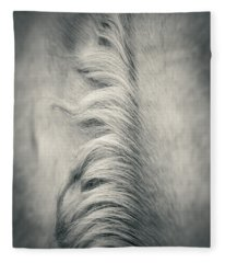 Beautiful Lonely White Horse Iv Fleece Blanket