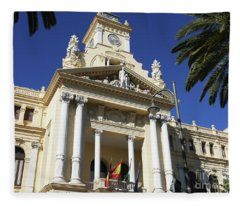 Beautiful Malaga City Hall Fleece Blanket