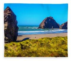 Beautiful Meyers Beach Fleece Blanket