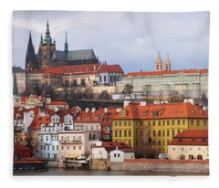 Beautiful Old Prague Fleece Blanket