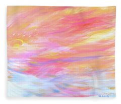 Beautiful Possibilities - Contemporary Art Fleece Blanket