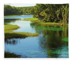 Beautiful River Fleece Blanket