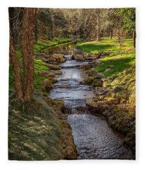 Beautiful Stream Fleece Blanket