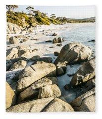 Beautiful Untouched Seaside Fleece Blanket