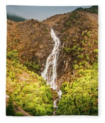 Beautiful Waterfall In Sunlight Fleece Blanket
