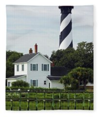 Beautiful Waterfront Lighthouse Fleece Blanket