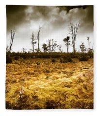 Beauty And Barren Bushland Fleece Blanket