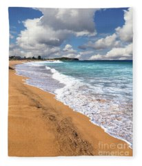 Beauty And The Beach By Kaye Menner Fleece Blanket