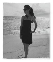 Beauty And The Beach Fleece Blanket