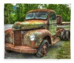 Beauty And The Best 1947 International Harvester Kb 5 Truck Fleece Blanket