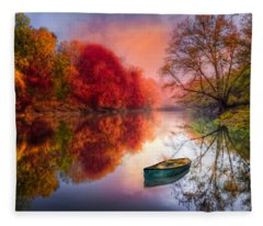 Beauty At The Lake Fleece Blanket
