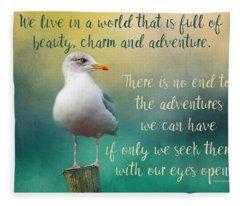 Beauty, Charm And Adventure Fleece Blanket