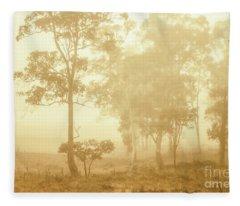 Beauty In A Forest Fog Fleece Blanket